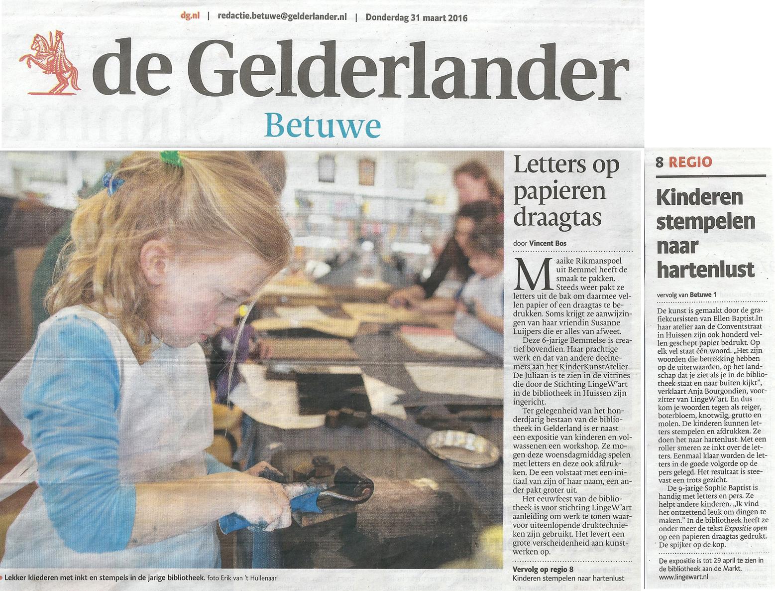 gelderlander letters op papieren draagtas kleiner